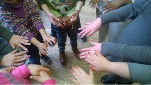 Mädchen Hände